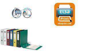 10497SW - ELBA Ordner 2-Rings Rado Plast 80mm Zwart A4