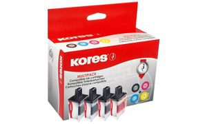 LC-980-KO - Kores Inkt Cartridge Black & Cyaan & Magenta & Yellow Multipack