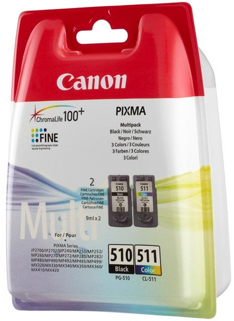 2970B011 - CANON Inkt Cartridge PG-510/CL-511 Black & Cyaan & Magenta & Yellow Multipack