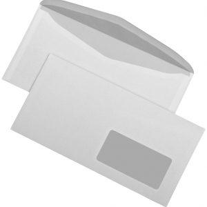 202340 - MAILmedia Venster Envelop C5/6 75gr Rechts Gom 1.000st Wit