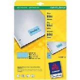 L6039-20 - AVERY Gekleurde Etiketten Zweckform 45.7x21.2mm 960st Blauw