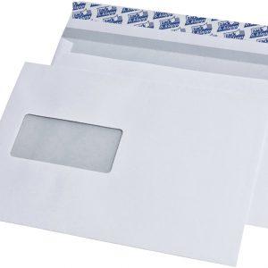 248140 - MAILmedia Venster Envelop C5 90gr Links Strip 500st Wit