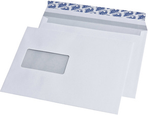 227480 - MAILmedia Venster Envelop DIN Lang Links Strip 500st Wit