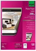 LP144 - SIGEL Fotopapier A4 200g/m² Gloss 100vel