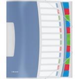 624030 - LEITZ/ESSELTE Sorteermap 3-Klep Vivida 12-Tabs Transparant
