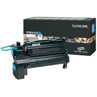 X792X1CG - LEXMARK Toner Cartridge Cyaan 20.000vel 1st