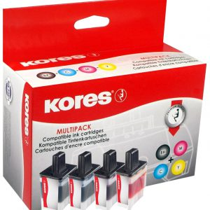 LC-900BKVAL - Kores Inkt Cartridge Black & Cyaan & Magenta & Yellow Multipack