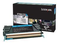 X746A1CG - LEXMARK Toner Cartridge Cyaan 7.000vel 1st