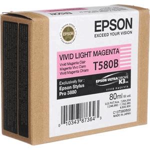 C13T580B00 - EPSON Inkt Cartridge T580B Light Magenta 80ml 1st