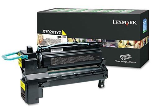 X792X1YG - LEXMARK Toner Cartridge Yellow 20.000vel 1st