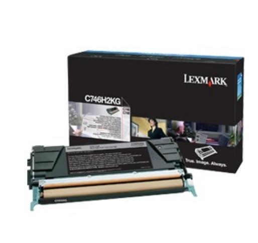 C746H3KG - LEXMARK Toner Cartridge Black 12.000vel 1st