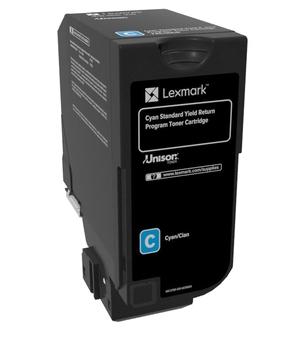 74C2SC0 - LEXMARK Toner Cartridge Cyaan 7.000vel 1st