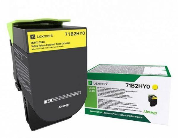71B2HY0 - LEXMARK Toner Yellow 3.500vel 1st