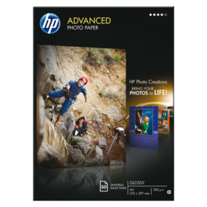 Q8698A - HP Fotopapier Advanced A4 250g/m² Gloss 50vel