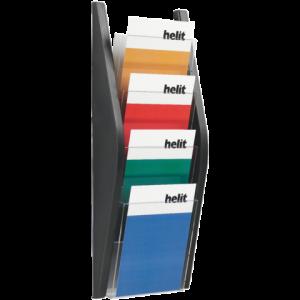 H6270295 - Helioz Folder Hangbak 4-Vaks Zwart A5