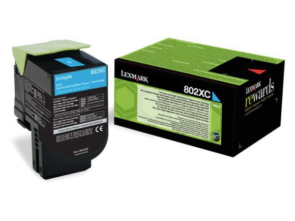 80C2XC0 - LEXMARK Toner Cartridge Cyaan 4.000vel 1st