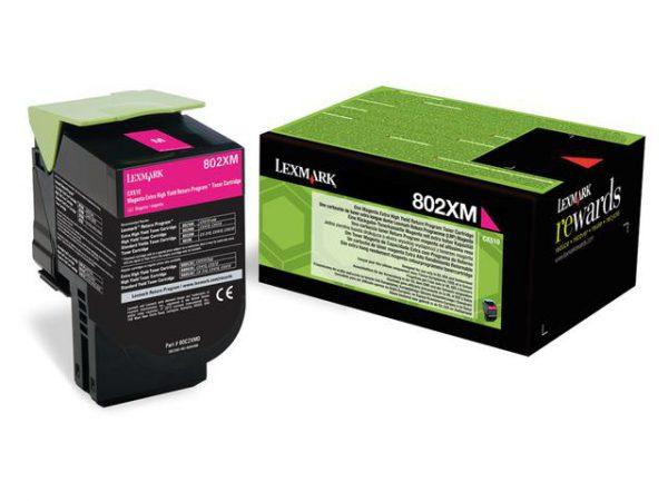 80C2XM0 - LEXMARK Toner Cartridge Magenta 8.000vel 1st