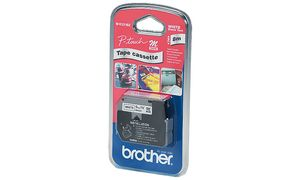 M-K 231 SBZ - Brother Lettertape 12mm 8m Wit Zwart M-K231BZ