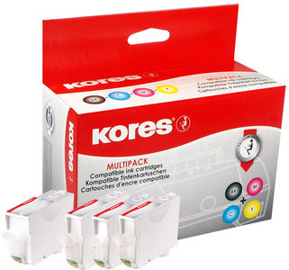 PGI-525BKVAL-KO - Kores Inkt Cartridge Black & Cyaan & Magenta & Yellow Multipack