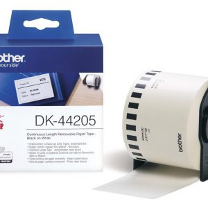 DK-44205 - Brother Doorlopend Tape Zelfklevend 62mm 30,5m Wit Papier