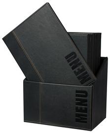 MC-BOX-TRA4-BL - Securit Menukaarten A4 Zwart 1set