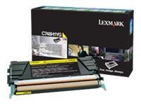 C748H1YG - LEXMARK Toner Cartridge Yellow 10.000vel 1st
