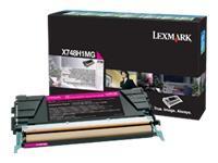 X748H1MG - LEXMARK Toner Cartridge Magenta 10.000vel 1st