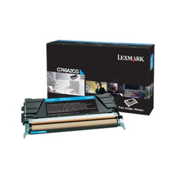 C746A3CG - LEXMARK Toner Cartridge Cyaan 7.000vel 1st