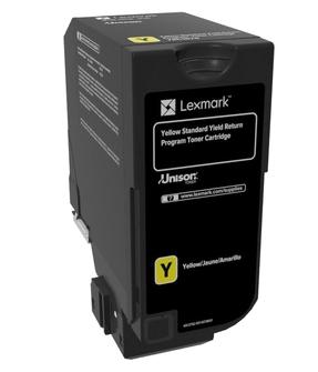 74C2SY0 - LEXMARK Toner Cartridge Yellow 7.000vel 1st