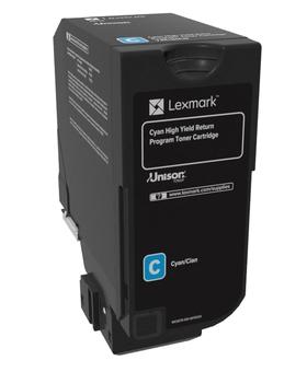 74C2HC0 - LEXMARK Toner Cartridge Cyaan 12.000vel 1st