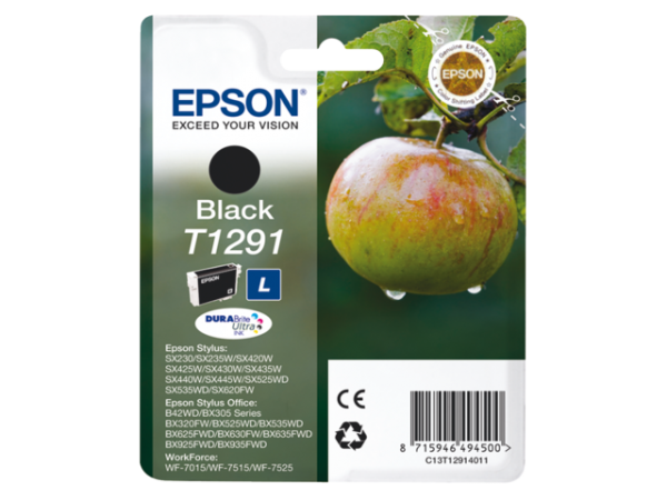 C13T12914012 - EPSON Inkt Cartridge T1291 Black 11,2ml 1st