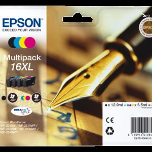 C13T16364010 - EPSON Inkt Cartridge 16XL Black & Cyaan & Magenta & Yellow 32,4ml Multipack