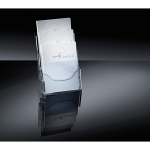 LH130 - SIGEL Folderhouder 3-Vaks Transparant Staand A4