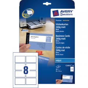 C32015-10 - AVERY Visitekaartje C32015-10 85x54mm Wit 80st