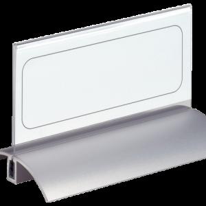 820119 - DURABLE Tafelnaambordje De Luxe 8201 Transparant 61x122mm