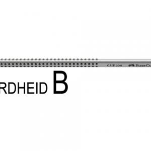 FC-117001 - FABER CASTELL Grafietpotlood Grip 2001 B 1st