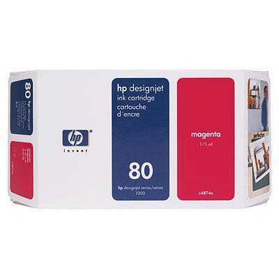 C4874A - HP Inkt Cartridge 80 Magenta 175ml