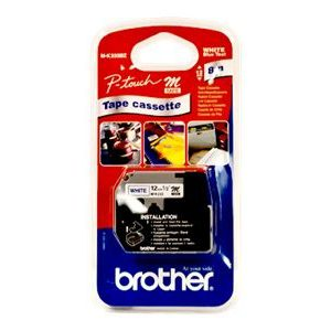 MK-233BZ - Brother Lettertape P-Touch 12mm 8m Wit Blauw