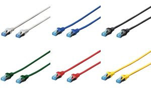DK-1532-005/R - DIGITUS Kabel UTP/CAT 5e RJ45 / RJ45 0.5m Rood