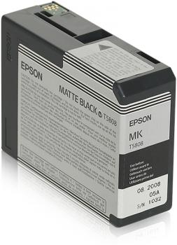 C13T580800 - EPSON Inkt Cartridge T5808 Black 80ml 1st