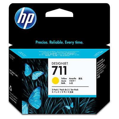 CZ136A - HP Inkt Cartridge 711 Yellow 29ml 3st