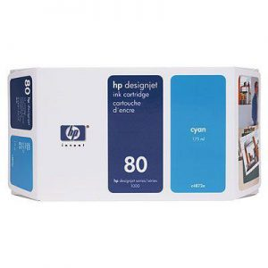 C4846A - HP Inkt Cartridge 80 Cyaan 350ml