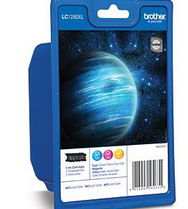 LC-1280XLRBW - Brother Inkt Cartridge Cyaan & Magenta & Yellow 31,2ml Multipack