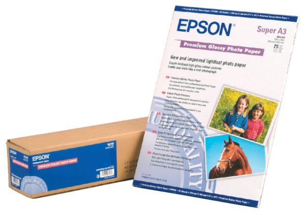 C13S041315 - EPSON Fotopapier Premium A3 255g/m² Gloss 20vel