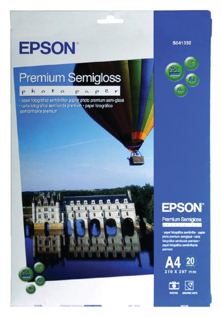 C13S041332 - EPSON Fotopapier Premium A4 251g/m² Wit 20vel