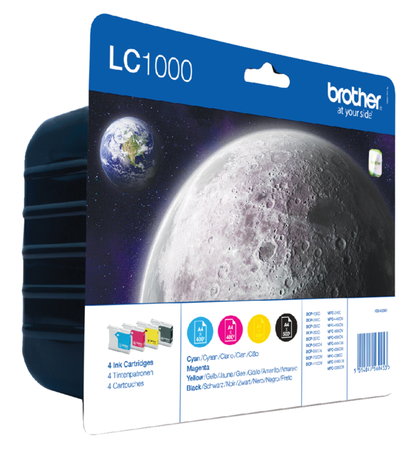 LC-1000VALBP - Brother Inkt Cartridge Black & Cyaan & Magenta & Yellow Multipack