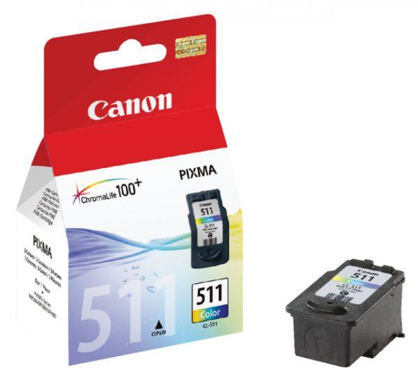 2972B001 - CANON INK Inkt Cartridge CL-511 Cyaan & Magenta & Yellow 9ml