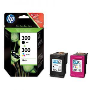 CN637EE - HP Inkt Cartridge 300 Black & Cyaan & Magenta & Yellow 4ml