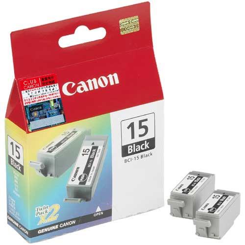 8190A002 - CANON Inkt BCI-15BK Black 5,3ml 2st