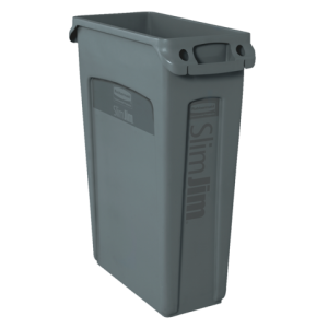 FG354060GRAY - Rubbermaid Afvalcontainer Slim Jim 87L Grijs